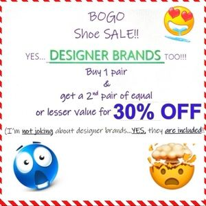 🔥💥DESIGNER BRAND SHOE SALE!!! 30% OFF💥🔥 (BOGO)